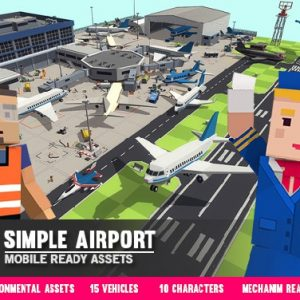 Simple Airport - Cartoon Assets